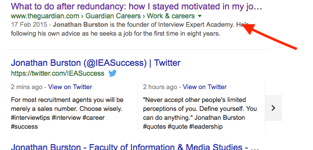 Why You Must Google Yourself - Interview Expert Academy